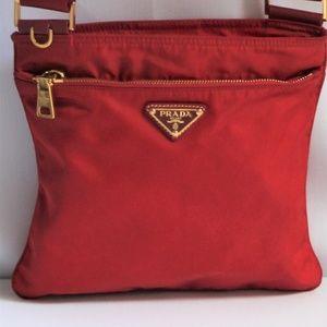 Prada Vela Small Nylon, with Calf Leather Bag